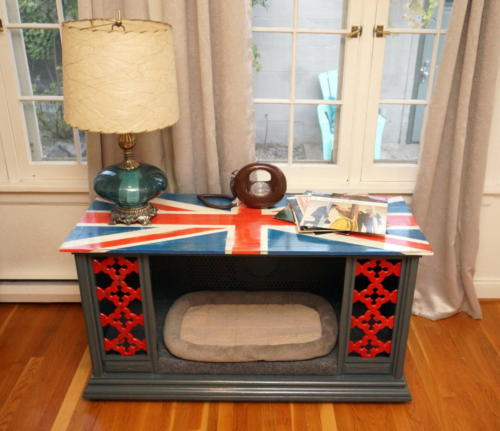 Union Jack Dog Bed from Vintage TV